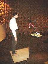 actor in the anechoic chamber